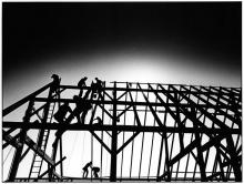 marthas vineyard barn raising photograph