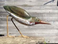Green Heron Sculpture